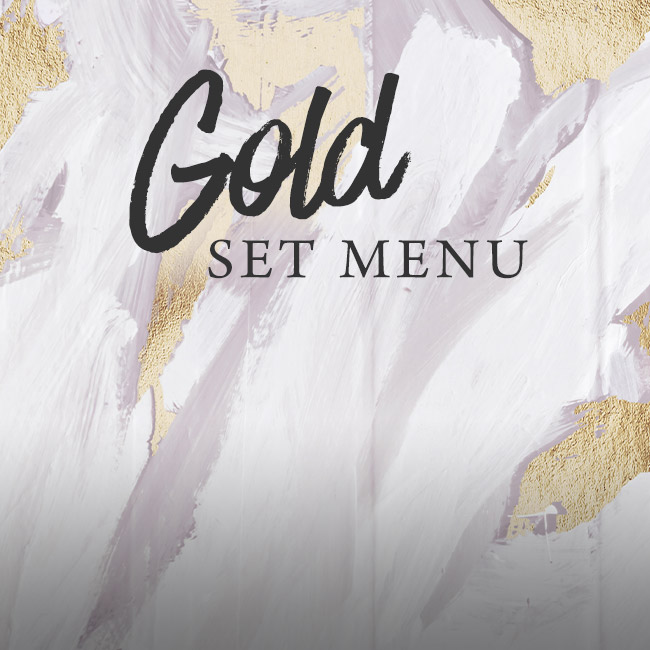 Gold set menu at The Hawk