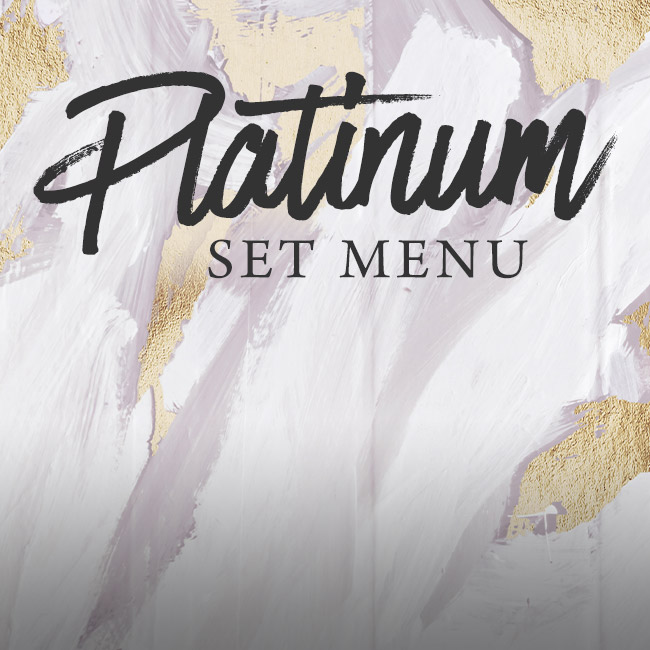 Platinum set menu at The Hawk