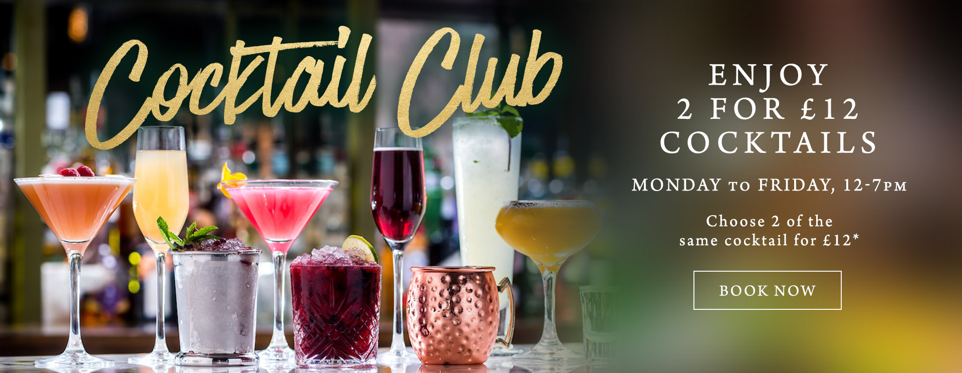 2 for £12 cocktails at The Hawk